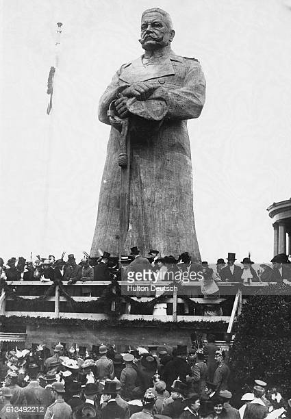 Unveiling Of Wooden Statue Of Hindenburg 1914 Nails were driven in at the cost of 1 each
