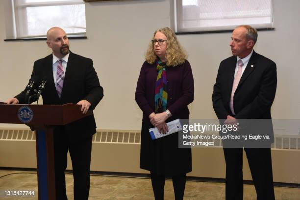 Unveils its new body scanner for contraband detection at the Community Corrections Center in Wernersville. L to R Director of Community Corrections...