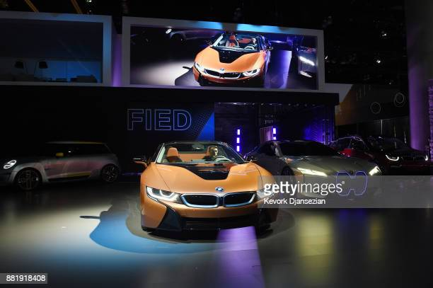 BMW unveils the BMW 2019 i8 Roadster during the auto trade show AutoMobility LA at the Los Angeles Convention Center November 29 in Los Angeles...
