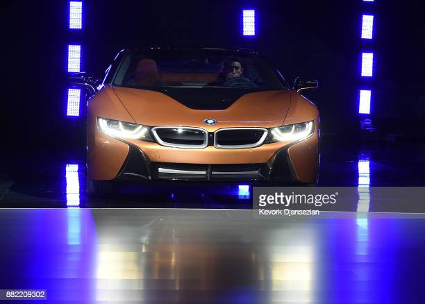BMW unveils the BMW i8 Roadster during the auto trade show AutoMobility LA at the Los Angeles Convention Center November 289 in Los Angeles California