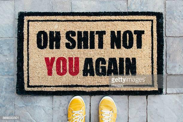 Unwelcoming doormat