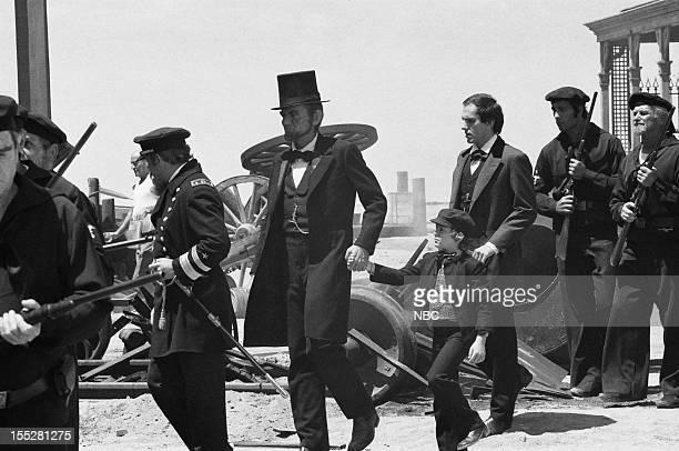 LINCOLN 'Unwilling Warrior' Episode 4 Pictured Hal Holbrook as Abraham Lincoln John Levin as Tad Lincoln