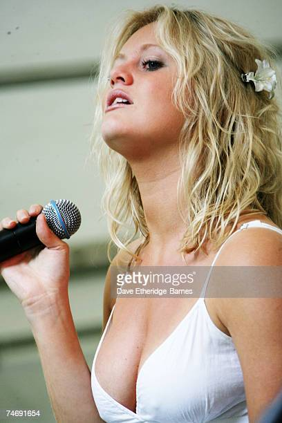 Up and coming singer and songwriter JennyLynn Smith performs on stage at the Marylebone Festival on June 17 2007 in London