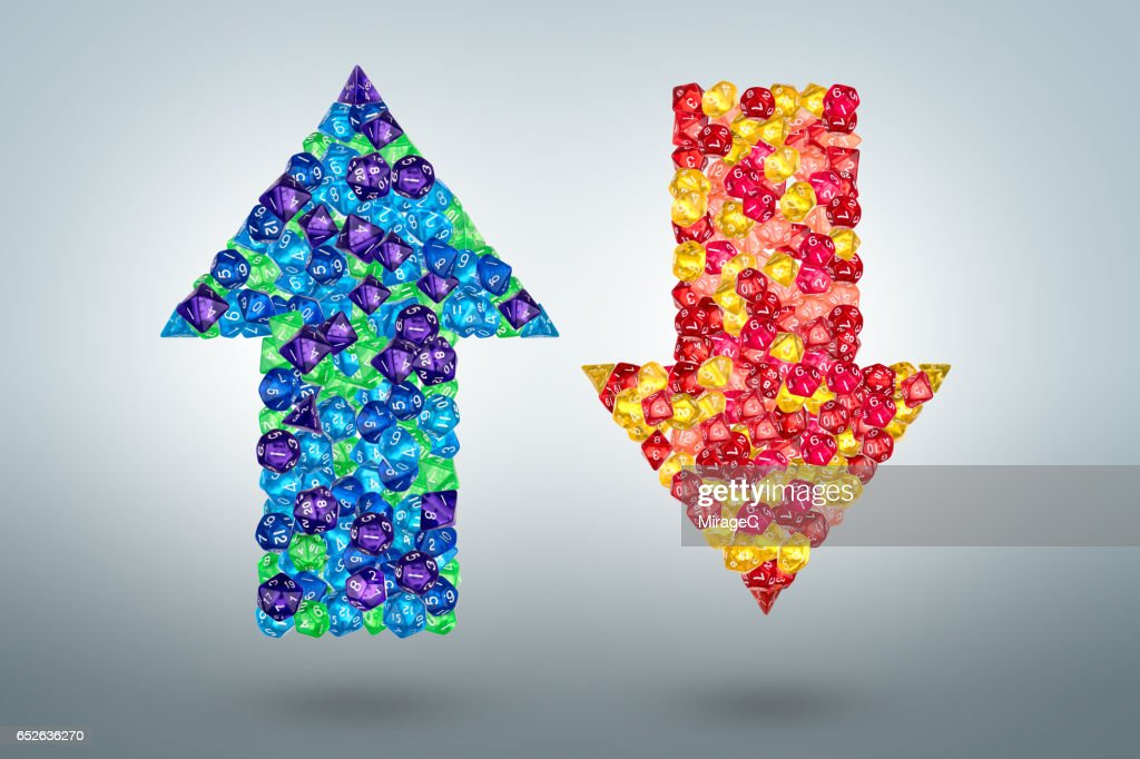 Up and Down Arrows : Stock Photo
