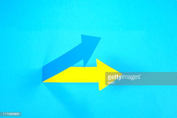 up arrow - curved arrows stock pictures, royalty-free photos & images