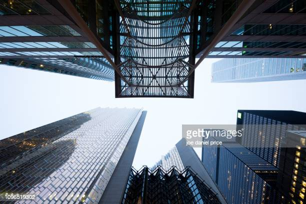 up, bay street, toronto, ontario, canada - financial district stock pictures, royalty-free photos & images
