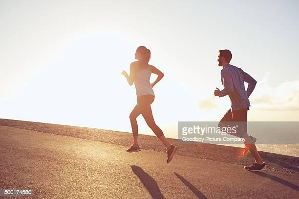 Levez tôt pour leur jogging matinal