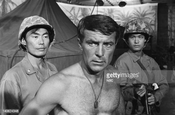 SHEEP Up For Grabs Episode 9 Aired 11/16/76 Pictured George Takei as Maj Kato Robert Conrad as Major Greg 'Pappy' Boyington unknown Photo by NBCU...