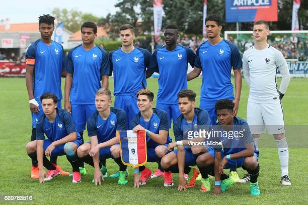 Kephren ThuramUlien Mohammed Lamine Diaby Theo Barret Abdoulaye Dabo William Saliba and Guillaume Dietsch Down from left to right Bilel Hassaini Yann...