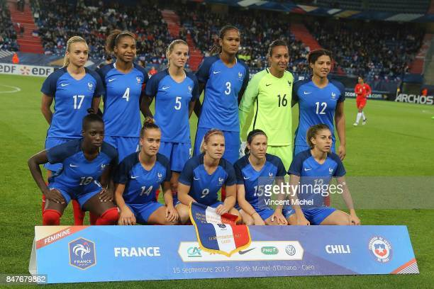 Marion Torrent of France Laura Georges of France Sandie Toletti of France Wendie Renard of France Sarah Bouhaddi of France and Valerie Gauvin of...