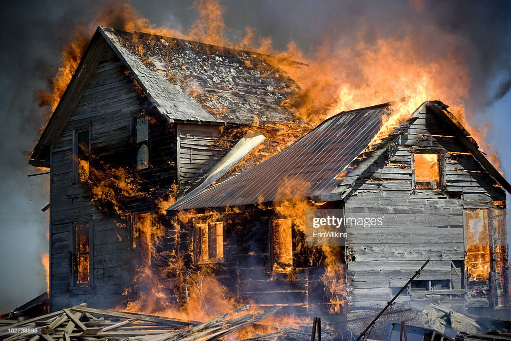 Up in Flames : Stock Photo
