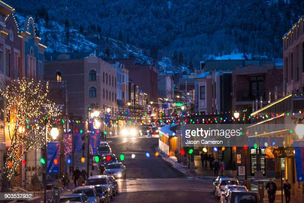 up main street ii - park city stock pictures, royalty-free photos & images