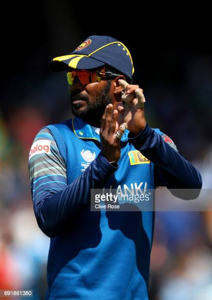 Upal Tharanga of Sri Lanka looks on during the ICC Champions trophy cricket match between Sri Lanka and South Africa at The Oval in London on June 3...