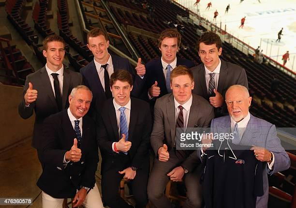 Upcoming NHL draft picks Noah Hanafin Jack Eichel Connor McBride and Dylan Strome and Broadcaster Ron MacLean picks Mitchell Marner and Lawson Crouse...