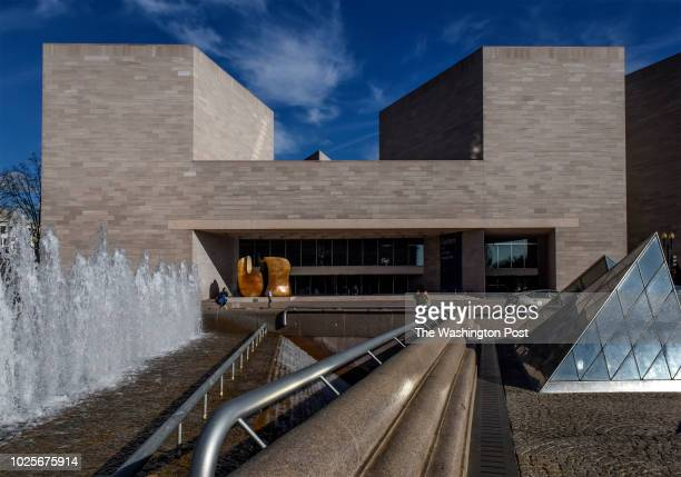 Updated view of the National Gallery of Art east building on February 2018 in Washington DC