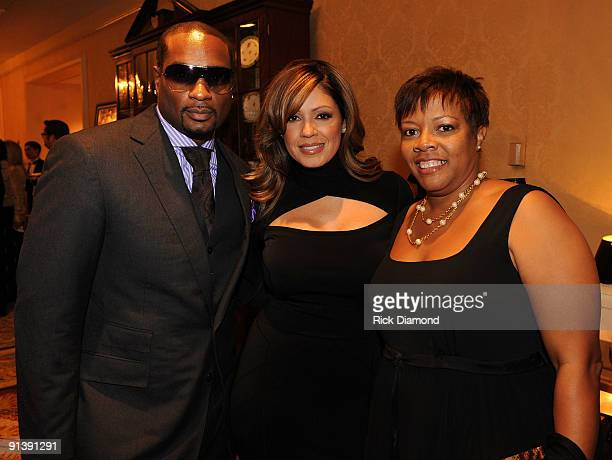 CEO Upfront Devyne Stephens Recording Artist Perri Pebbles Reid and Filmography Sharliss Asbury attends the TJ Martell Foundation's Best Cellars...