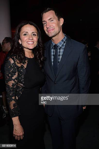 Upfront Party at MoMA in New York City on Monday May 16 2016 Pictured Jenni Pulos Jeff Lewis Flipping Out on Bravo