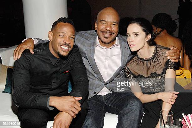 Upfront Party at MoMA in New York City on Monday May 16 2016' Pictured Marlon Wayans Marlon on NBC David Alan Grier 'The Carmichael Show' on NBC...