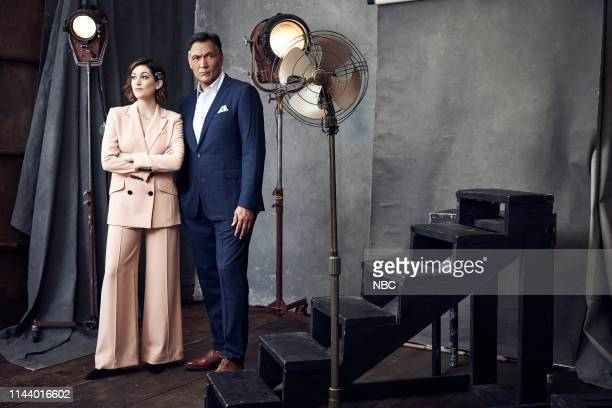 EVENTS Upfront Portrait Studio Pictured Caitlin McGee Jimmy Smits Bluff City Law