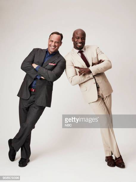 EVENTS Upfront Portrait Studio Pictured Matt Iseman Akbar GbajaBiamila 'American Ninja Warrior'