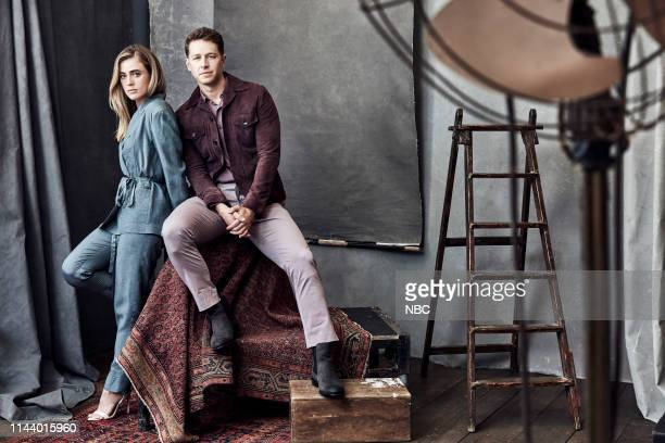 EVENTS Upfront Portrait Studio Pictured Melissa Roxburgh Josh Dallas Manifest