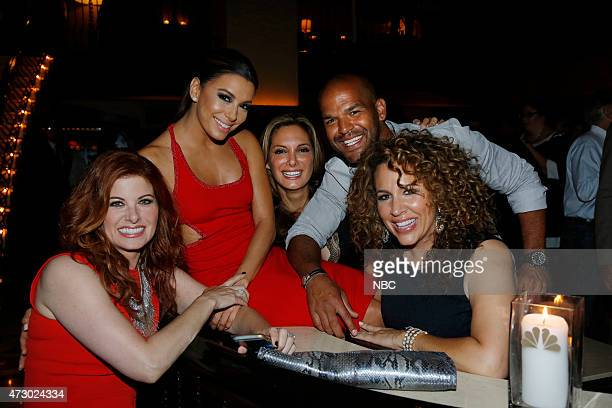 Upfront Presentation Bob Greenblatt Party at Del Posto Pictured Debra Messing 'The Mysteries of Laura' Eva Longoria Alex Meneses Amaury Nolasco Diana...