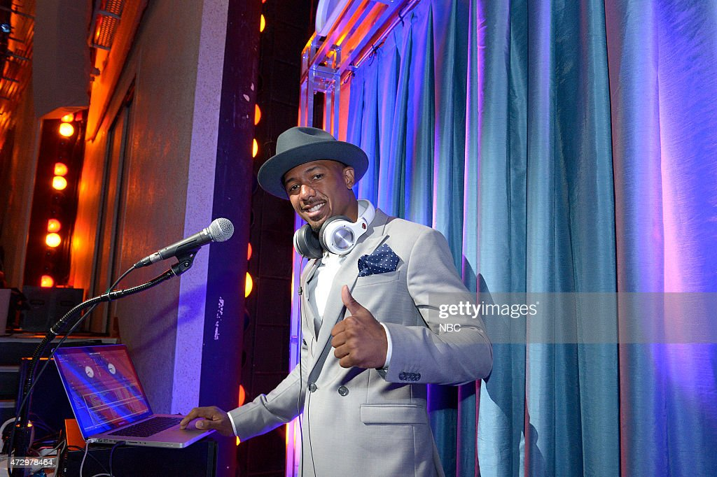 Upfront Presentation -- Presentation to Advertisers, Backstage -- Pictured: Nick Cannon 'America's Got Talent' --
