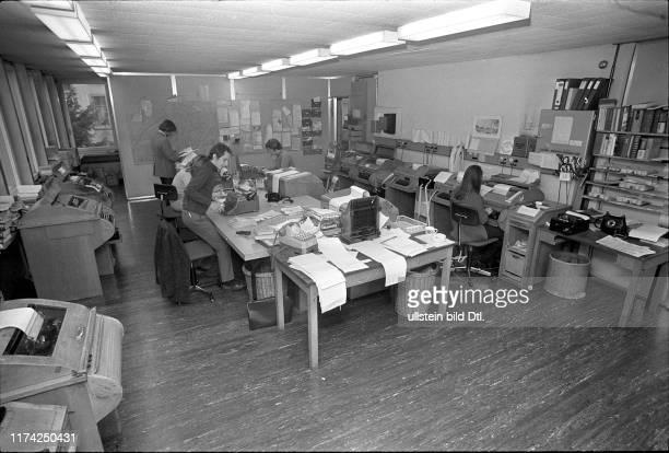 UPIBüro Redaktion in Zürich 1971