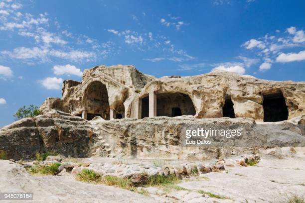 uplistsikhe ancient cave city - georgian culture stock pictures, royalty-free photos & images