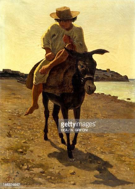 Upon the donkey by Stanislao Pointeau