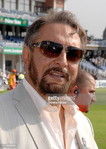 Uppan Patel during the IIFA Charity Celebrity Cricket match at Headingley Stadium Leeds England on June 8 2007