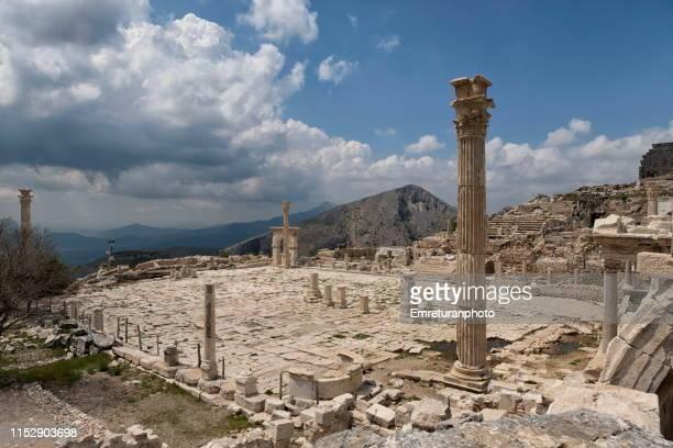 upper agora of sagalassos ancient city,burdur province. - emreturanphoto fotografías e imágenes de stock