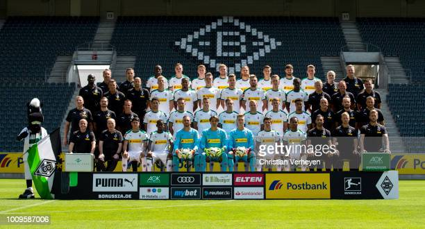 Upper and first row starts with Mascot Juenter doctor Andreas Schlumberger doctor Ralf Doyscher Denis Zakaria Florian Mayer Andreas Poulsen Christoph...