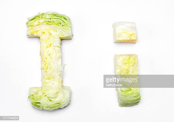 Upper and Lower Case Letter I for Iceberg Lettuce
