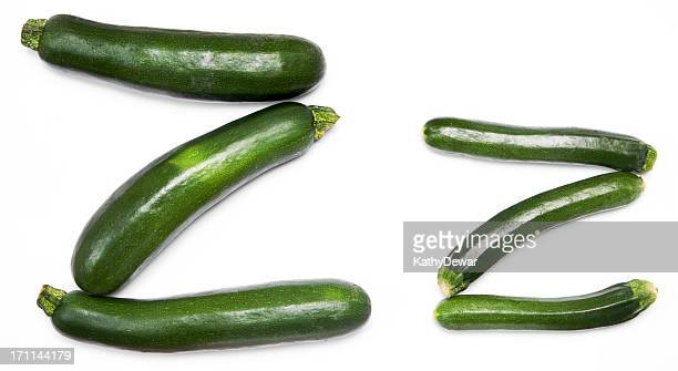 Upper and Lower Case Letter Z for zucchini