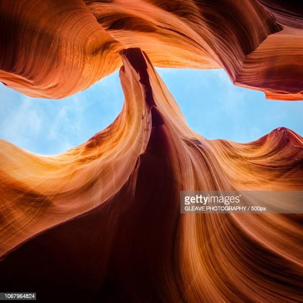 upper antelope canyon in page, arizona. usa - スロット渓谷 ストックフォトと画像