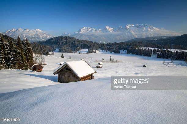 upper bavarian landscape, germany, europe - garmisch partenkirchen stock pictures, royalty-free photos & images
