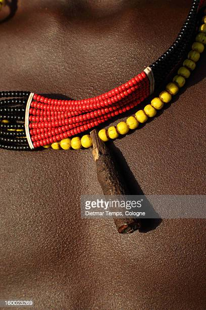upper body of  tribal hamer boy, ethiopia - dietmar temps stock photos and pictures