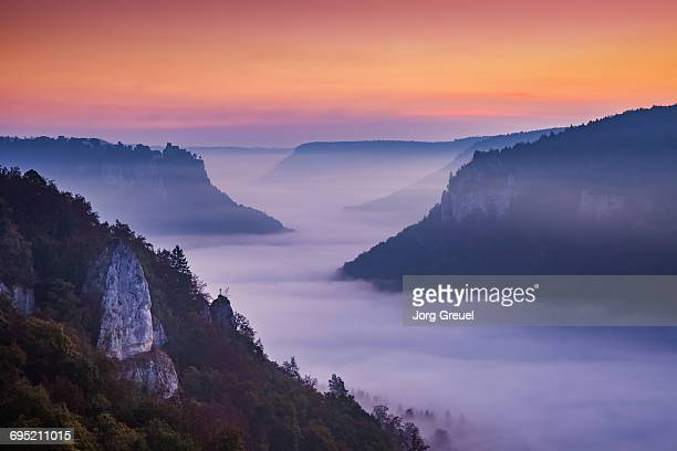 Upper Danube Valley at dawn