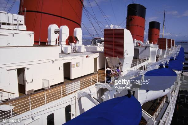 Upper Deck and Lifeboats on the Queen Mary Seaport