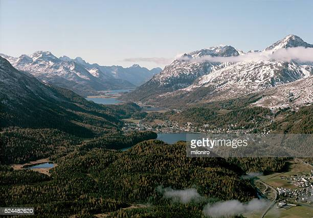 upper engadin - miloniro stock pictures, royalty-free photos & images