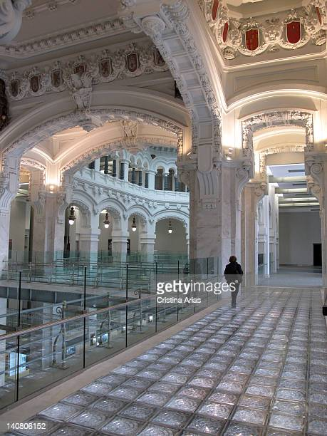 Upper floors of the Palacio de Cibeles after the restoration done by the studio of the architect Francisco Rodriguez Partearroyo in the building...