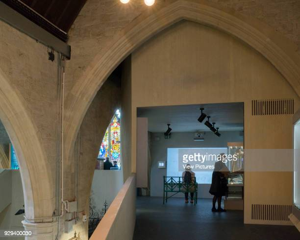 Upper gallery and pointed arch. Garden Museum Lambeth Palace, London, United Kingdom. Architect: Dow Jones Architects, 2017.