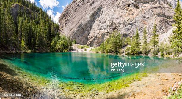 upper grassi lake panorama - emerald green stock pictures, royalty-free photos & images