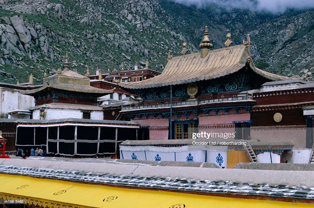 'Upper halls at Drepung monastery, Lhasa, Tibet, China, Asia' : Foto de stock