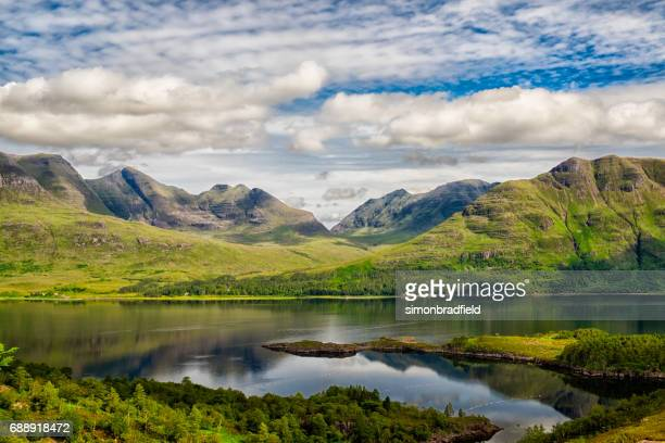 upper loch torridon in scotland's northwest highlands - scotland stock pictures, royalty-free photos & images