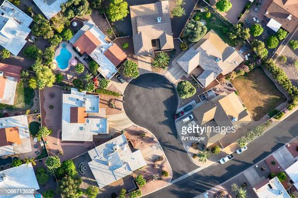 Upper Middle Class Neighborhood Aerial
