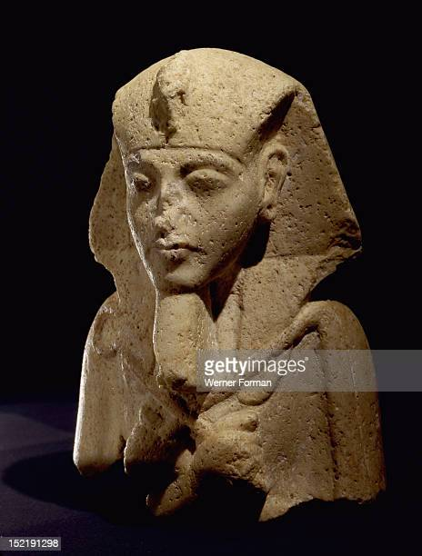 Upper part of a shabti of Akhenaten Egypt Ancient Egyptian Amarna period 18th dynasty c 1340 BC Amarna