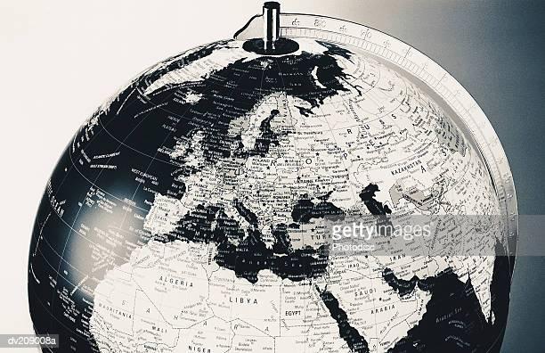 Upper portion of black globe