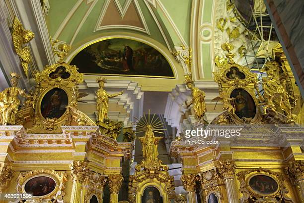 Upper portion of the iconostasis Peter and Paul Cathedral St Petersburg Russia 2011 The cathedral which was built between 1712 and 1733 stands within...